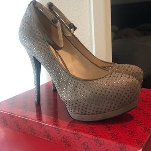 Taupe studded Guess heels. Size 8.5